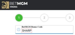 BetMGM Bonus Code Field on Sign-up
