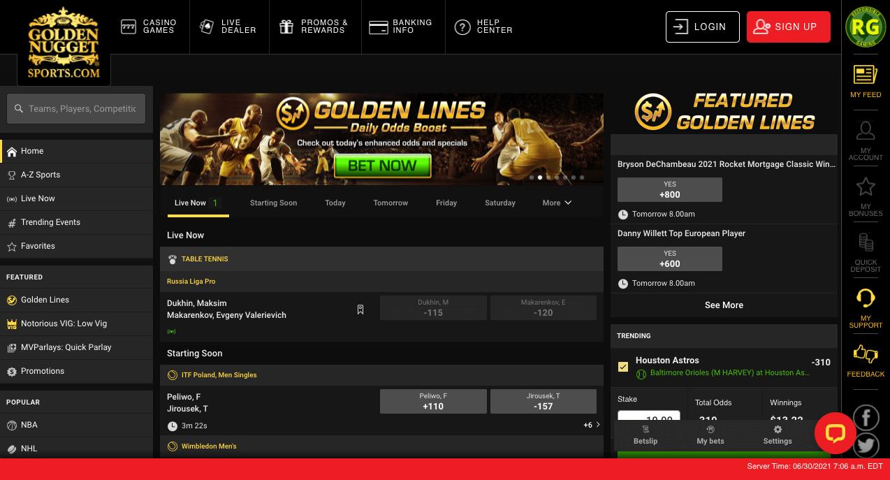 Golden Nugget Lobby