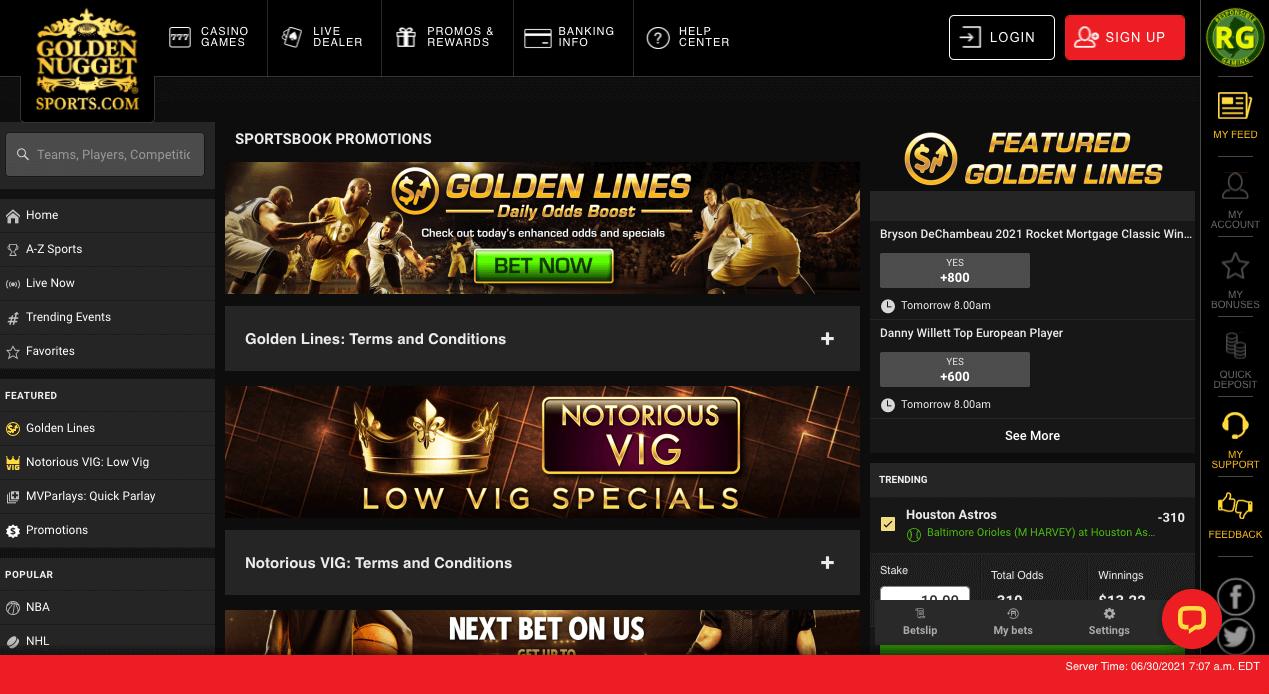 Golden Nugget Sportsbook Bonus Offers