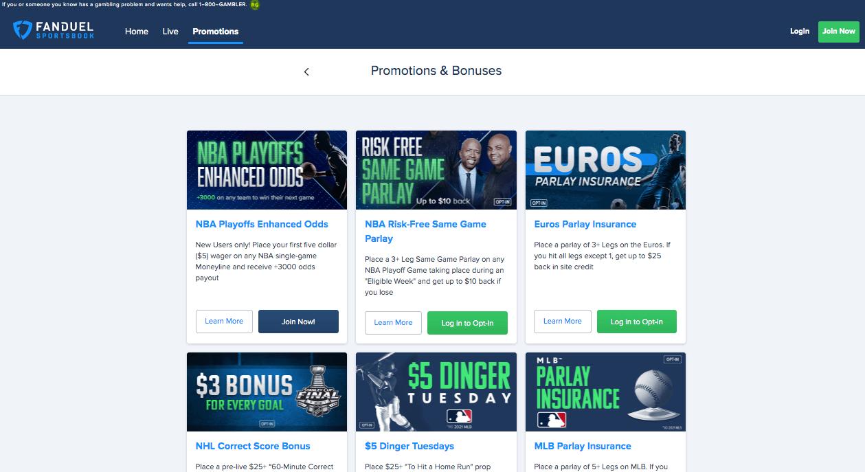 FanDuel Sportsbook Promo and Bonus Offers